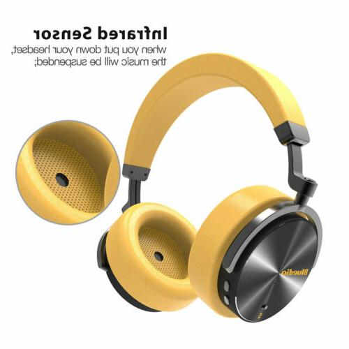 Bluedio T5S Headsets Yellow