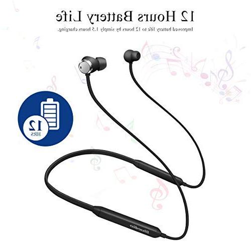 Bluedio Active Cancelling Earbuds Neckband Bluetooth 4.2 Wireless Sports Headsets Magnetic with Mic