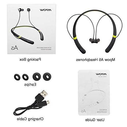 Mpow Noise Bluetooth V4.2 Neckband Headset, IPX6 Sports Earphones w/Magnetic Earbuds