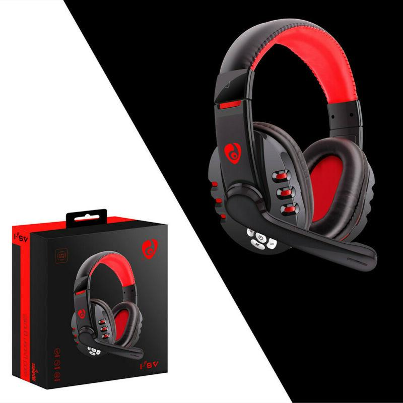 Wireless Gaming Headset Headphones With Microphone For PC/Ph
