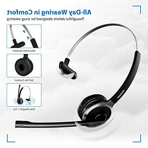 Mpow V4.1 Headset/Truck Driver Charging Stand Head Reduction for Skype, Call Office