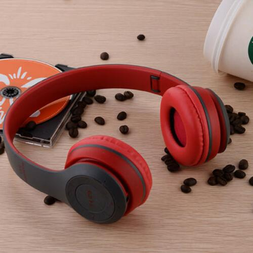 Bluetooth Wireless Headphones Ear Foldable Stereo Cancelling