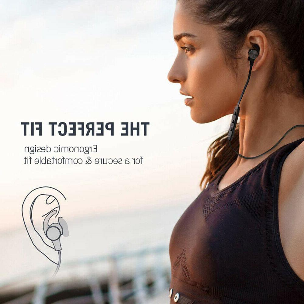 Waterproof Sport Bluetooth Headset Wireless Headphones In-Ear Earbuds