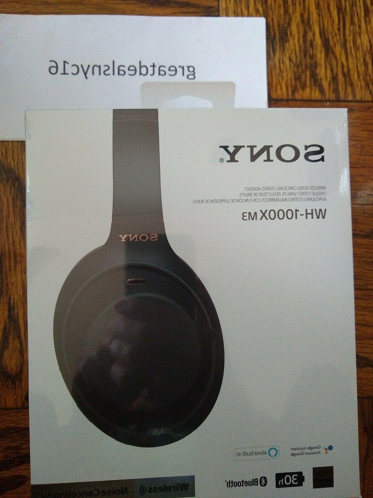 Sony WH 1000X M3 Wireless Bluetooth Noise Cancelling Headpho