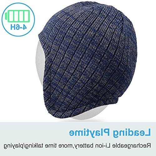 Mydeal Beanie Cap Warmers with Wireless Headsets Earphone Stereo Speaker Microphone Outdoor with Phones -