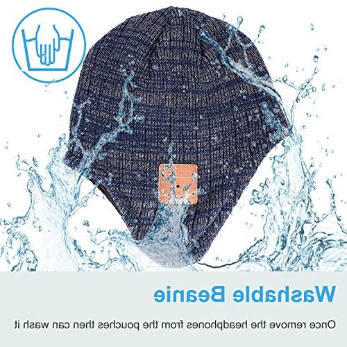 Mydeal Winter Beanie Warmers with Headsets Earphone Stereo Speaker Microphone with Cell Phones -