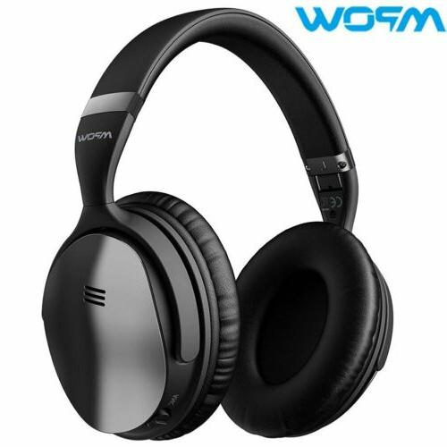 wireless bluetooth active noise cancelling headphones stereo