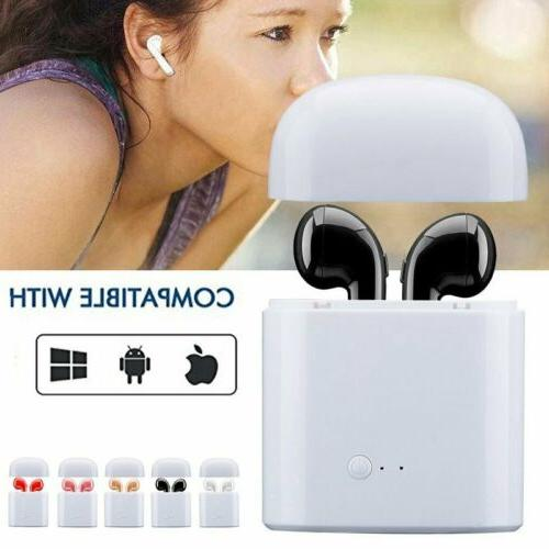 Wireless Headset Earphone Stereo Mic For iOS