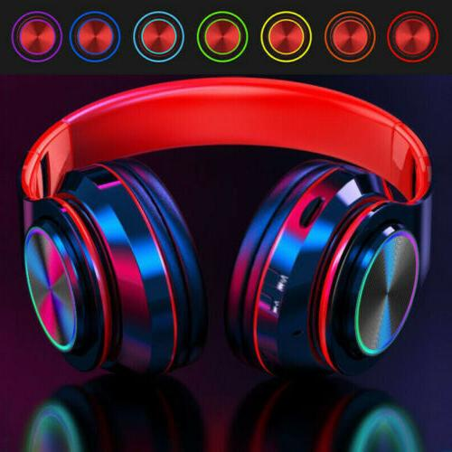 Wireless Bluetooth Headphones Earphones Stereo Cancelling Headset With