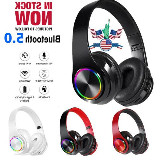wireless bluetooth headphones earphones stereo noise cancell