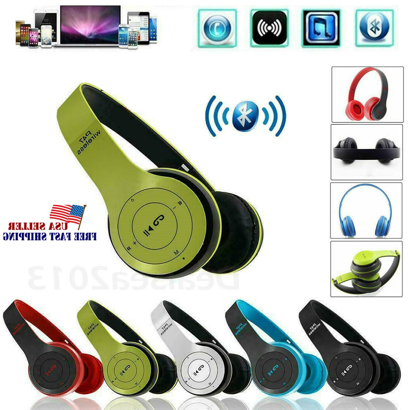 wireless bluetooth headphones foldable stereo noise cancelli