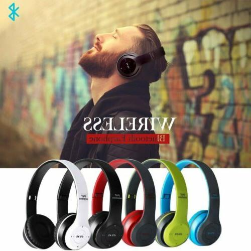 wireless bluetooth headphones noise cancelling hands free