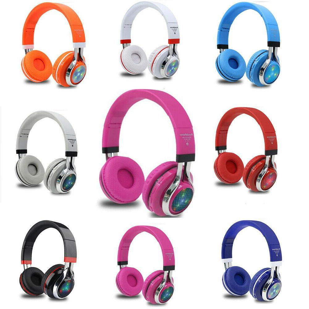 wireless bluetooth headphones sports headset stereo new
