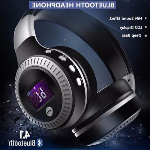 Wireless with Noise Over-Ear Stereo Earphones