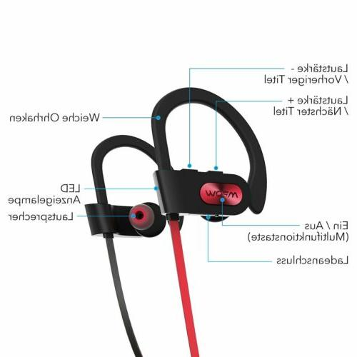 Mpow Headphones Sport Stereo Earbuds