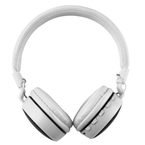 Wireless Bluetooth Over-Ear LED Noise Cancelling Earphones