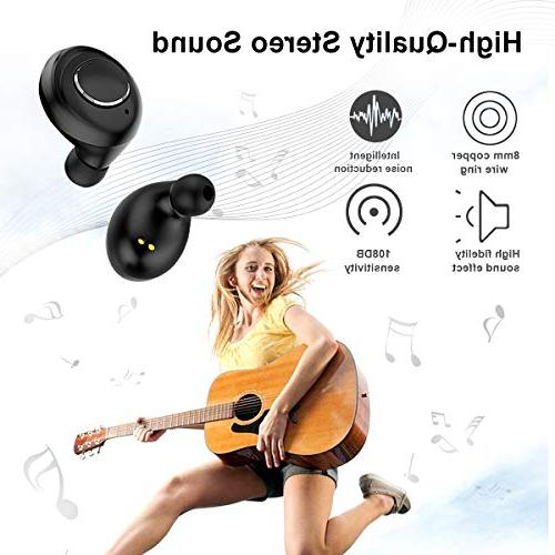 Wireless Bluetooth True Wireless Earbuds Playtime Sound Headphones Mic Portable