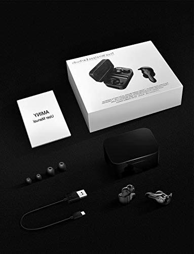 Wireless Bluetooth 5.0 Wireless Bluetooth Earbuds with Case Play 3D Headphones Built-in Microphone