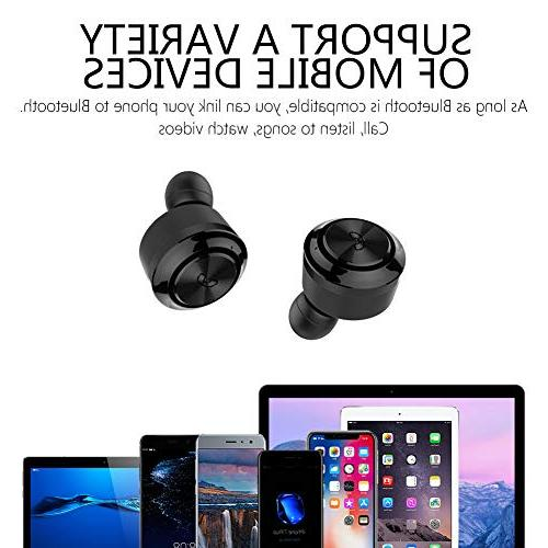 Wireless E18 Bluetooth 5.0 True Lightweight Wireless Headphones Playtime Stereo Portable Charging Box Magnetic IPX5 Headset Mic