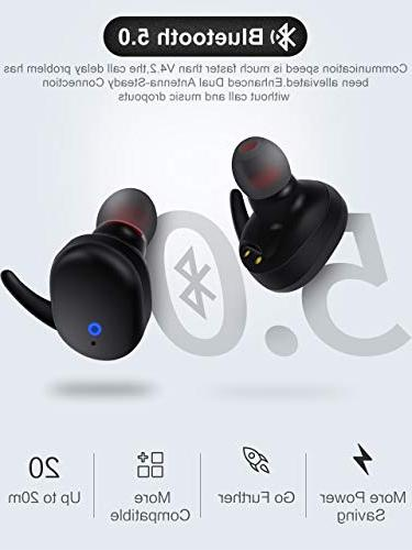Wireless Bluetooth Bluetooth True Earbuds with Mic iphone