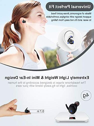 Wireless Bluetooth True Wireless Earbuds Stereo Hi-Fi Sound with Charging Noise with iphone Android