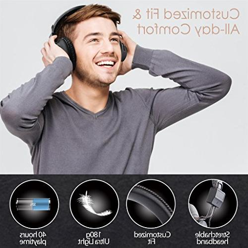 Avantree Play Wireless Headphones Audio Transmitter for PC Nintendo Computer, & Simultaneously, No Delay, Play Time