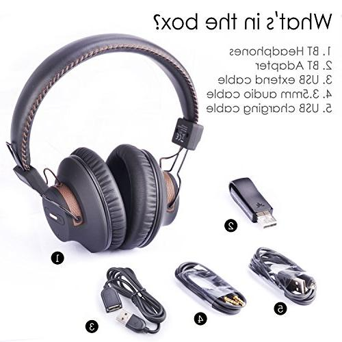 Avantree & Play Wireless PS4 Headphones with Bluetooth Audio Transmitter PC Switch Desktop Computer, Chat & Music Simultaneously, No Delay, Play