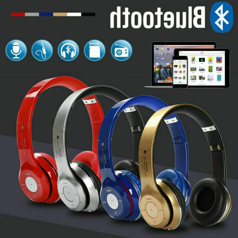 Wireless Foldable Cancelling Over Ear W/ Mic
