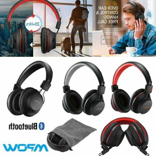 wireless headphones bluetooth headset lightweight over ear