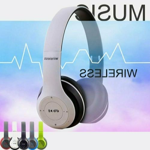 wireless headphones bluetooth headset over ear foldable