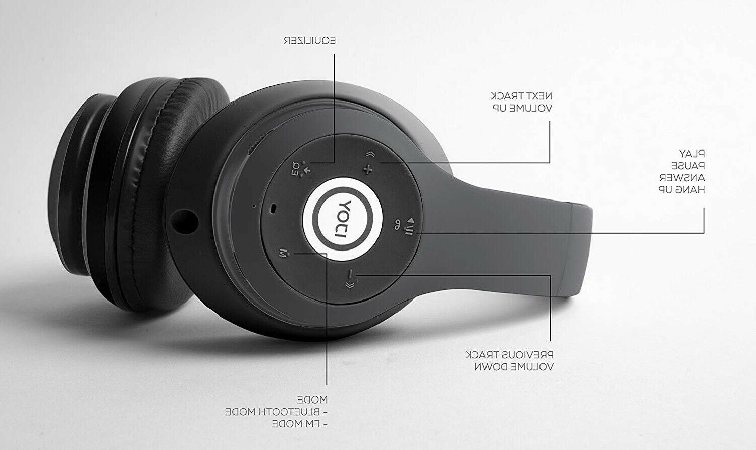 Wireless Over Ear Headphones Foldable Headset with Mic