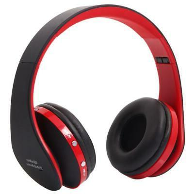 wireless headphones stereo foldable noise cancelling headset