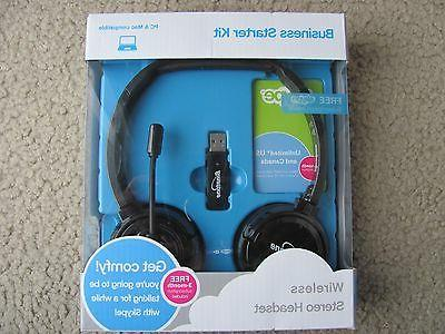 New Binatone Wireless Stereo Headset Business Starter Kit fo