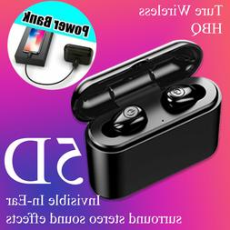 Mini Invisibly Wireless Earbuds Bluetooth Sweatproof 5D Ster