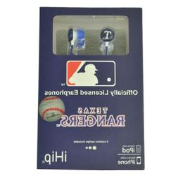 MLB Texas Rangers iHip Headphones earphones Audio Iphone Mp3