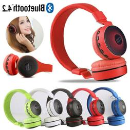 New Wireless Bluetooth Kids Over-Ear LED Headphones Noise Ca