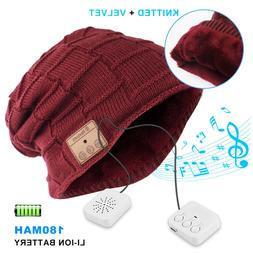 Bluetooth Music Warm Beanie Hat Wireless Smart Cap Headphone