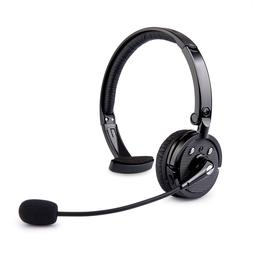 CISNO Bluetooth Headset Over the head Boom Mic Wireless Head