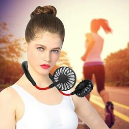 Portable Hands Free Fan USB Rechargeable Necklace Headphone