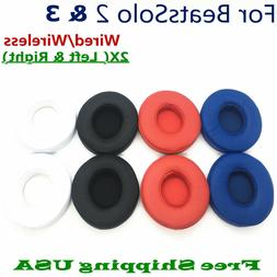 Replacement Ear Pads Cushion For Beats Dr Dre Solo 2 & 3 Wir