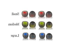 TenCloud 6 Pairs Replacement Silicone Ear Cushions Tips Cove