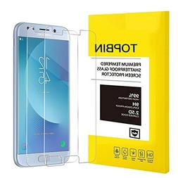TOPBIN  Samsung Galaxy J7 2017 Tempered Glass Screen Protect