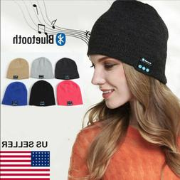 Soft Warm Beanie Hat Wireless Bluetooth Smart Cap Headset He