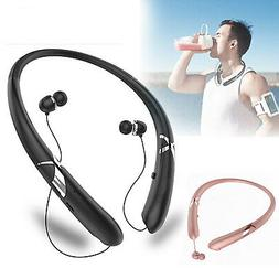 sweatproof stereo neckband headset wireless bluetooth retrac