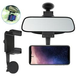 Car Rear View Mirror Phone Mount Magnetic Holder Stand Cradl