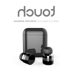 touch control wireless stereo earbuds 15 hours