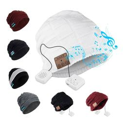 Unisex Wireless Bluetooth Headset Beanie Hat Music With Head