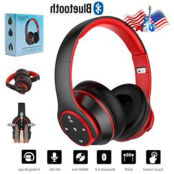 US Wireless Foldable Headphone Touch Control Bluetooth Noise