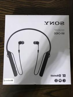 Sony WI-C400 Bluetooth Earphones, Black, Brand New Sealed