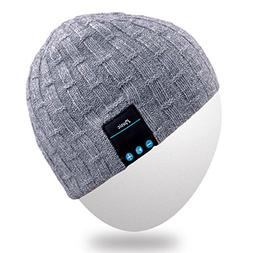 Rotibox Winter Fashional Bluetooth Beanie Hat Cap Double Kni